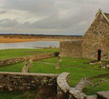 Cottage Beyond Clonmacnoise, Ireland Sticker