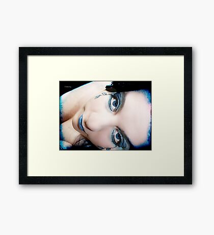 The distance you need to touch Framed Print