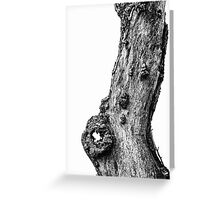 Apple Tree Trunk Greeting Card
