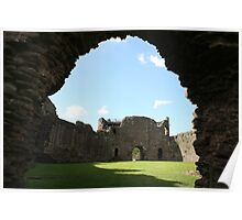 White Castle archway to inner ward, Wales Poster
