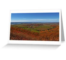 Fall Autumn Colors ~ Aerial View of Fields, Farmland & the Ottawa River ~ Country Landscape Greeting Card