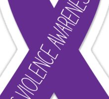 Domestic Violence Awareness Ribbon  Sticker