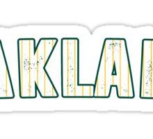 MLB City - Oakland Sticker