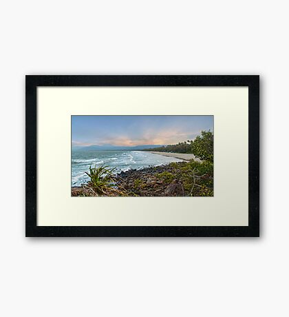 4mile Beach From Above Framed Print