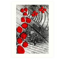 Monotype with Red Art Print