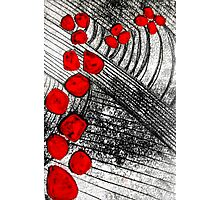 Monotype with Red Photographic Print