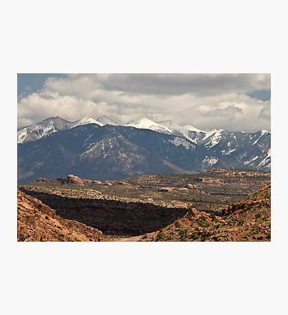 The La Salle Mountains Photographic Print