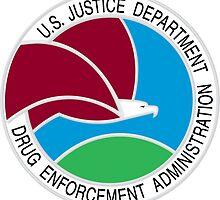 US DEA Drug Enforcement Administration Seal Sticker by ukedward