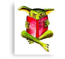 Reading Goblin Canvas Print