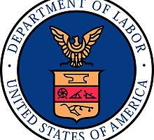 US Department of Labor Seal Sticker by ukedward