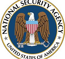 NSA National Security Agency Seal Die Cut Sticker by ukedward