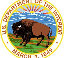 US Department of the Interior Seal Sticker by ukedward