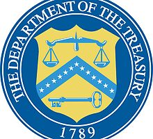 US Department of the Treasury Seal Sticker by ukedward