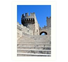 Palace of Grand Masters, Rhodes, Greece. Art Print