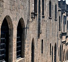 Street in the medieval fortress of Rhodes. by FER737NG