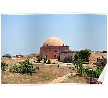 Fortetza: Venetian fortress in Rethymno, Crete. Poster