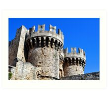 Medieval fortress of Rhodes. Art Print
