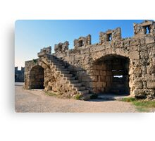 Medieval fortress of Rhodes. Canvas Print
