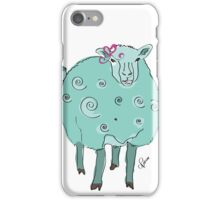 Pale Green Sheep with Pink Bow iPhone Case/Skin