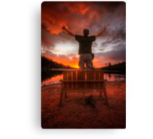 Sunset Man Canvas Print
