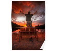 Sunset Man Poster