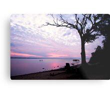 Sunset fishing Eli creek Metal Print