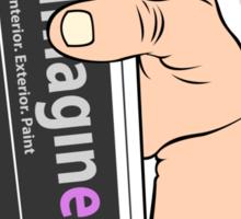 imagine vs. vandal Sticker