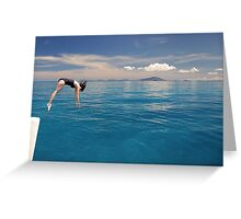 Diving into Paradise Greeting Card