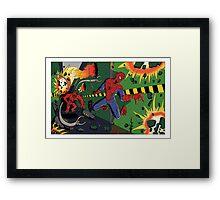Spider-Man vs. Monster Ock Framed Print
