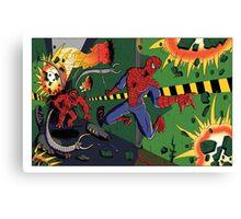 Spider-Man vs. Monster Ock Canvas Print