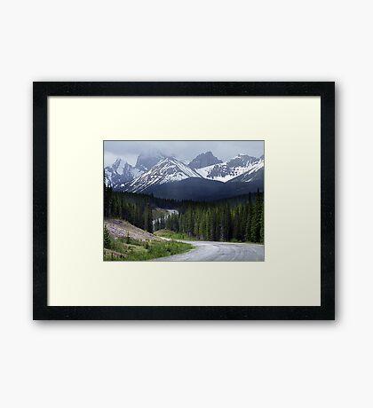On Spray Lake Trail Framed Print