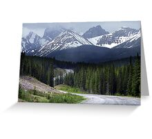 On Spray Lake Trail Greeting Card