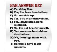 Humor Series/Bar Answer Key Poster