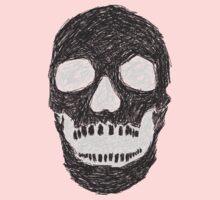 Scribble Skull Baby Tee