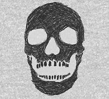 Scribble Skull Unisex T-Shirt