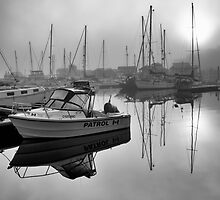 Misty Marina Morning by Wendi Donaldson Laird