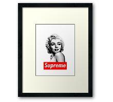 Supreme x Marilyn Monroe (Official) Framed Print