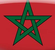 Morocco Flag Glass Oval Die Cut Sticker Sticker