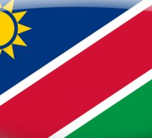 Namibia Flag Glass Oval Die Cut Sticker Sticker