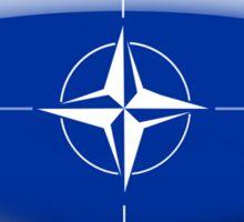 NATO Flag Glass Oval Die Cut Sticker Sticker