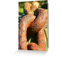 Rusty link Greeting Card