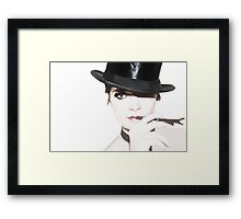 That Look Between The Lines Framed Print