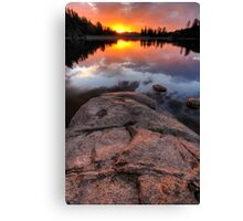 Solid Sunset Canvas Print