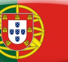 Portugal Flag Glass Oval Die Cut Sticker Sticker