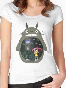 My Neighbour Totoro - Rain Women's Fitted Scoop T-Shirt