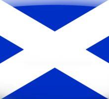 Scotland Flag Glass Oval Die Cut Sticker Sticker