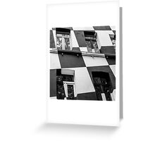 Checkerboard Facade Greeting Card