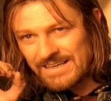 One does not simply. Sticker