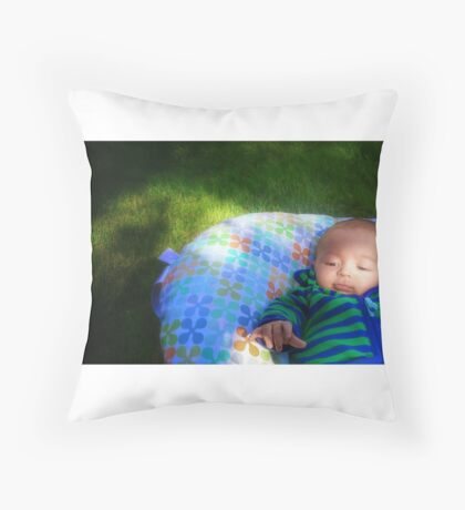 Catch the beauty  Throw Pillow