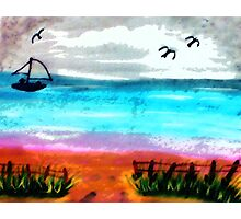Seascape #2, finishd, watercolor Photographic Print